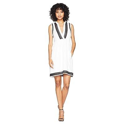 BB Dakota Acelynn Embroidered Shift Dress (Optic White) Women