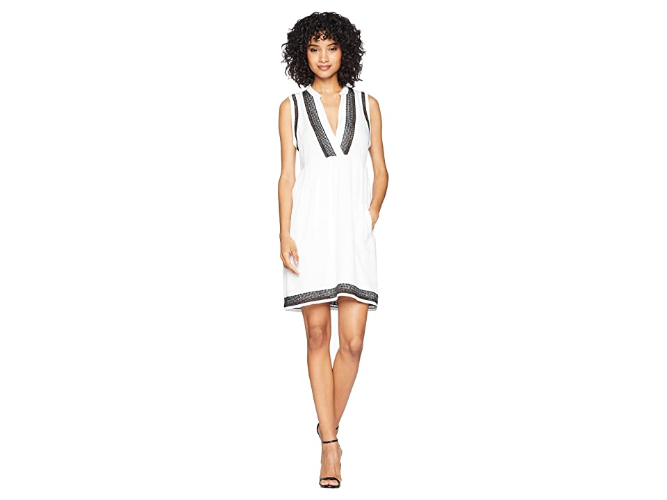 BB Dakota Acelynn Embroidered Shift Dress (Optic White) Women