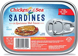 Chicken of the Sea Sardines In Hot Sauce, 3.75 Ounce (Pack of 18)