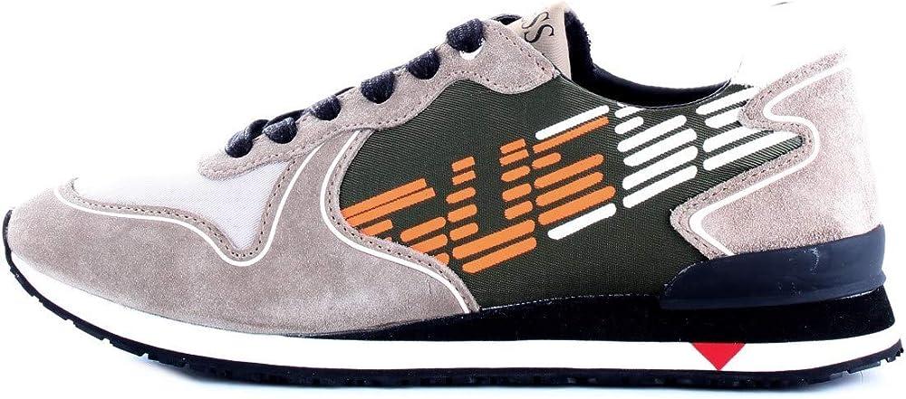 Guess scarpe sportive sneakers da uomo in pelle scamosciata FM7NGLSUE12