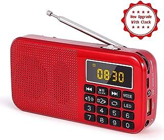 J-725C Radio FM portátil pequeña, Radio de batería