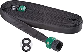 Melnor 65060-AMZ 25' Flat Soaker Hose with 2 washers and QuickConnect Product Adapter Set, Amazon Bundle