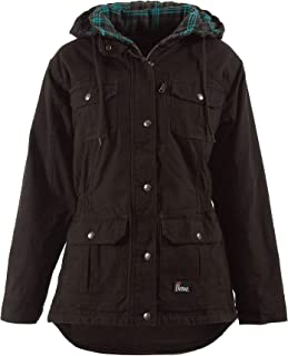 WCH65 Women's Washed Barn Coat - Quilted Flannel Lined