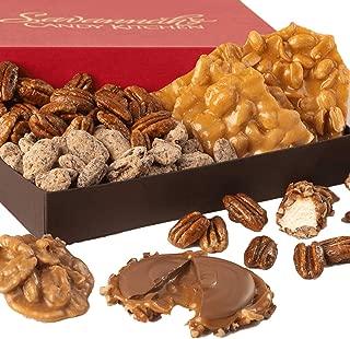 Handmade Southern Confections Gourmet Gift Box - Praline, Chocolate Caramel Pecan Turtle Gophers, Pecan Nougat Caramel Log Roll, Handmade Peanut Brittle, Candied Pecans   Savannah Candy Kitchen