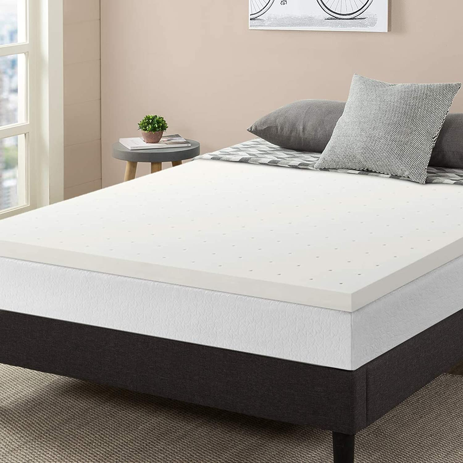 Best Price Mattress 2  Ventilated Memory Foam Mattress Topper, Full