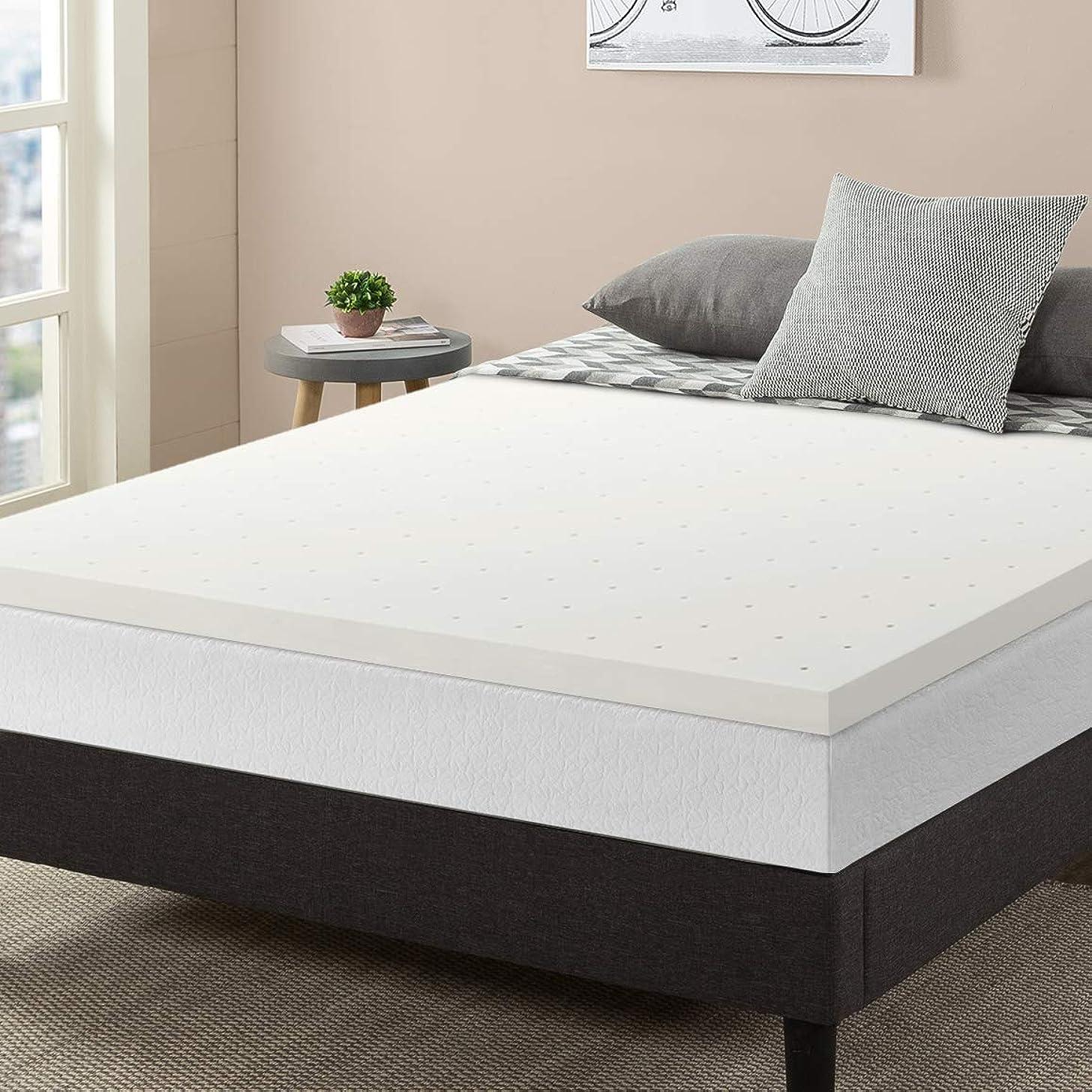 Best Price Mattress, 2.5 Inch Ventilated Memory Foam Mattress Topper, Certipur-US Certified, Twin Extra Long Size