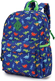 Backpack for Boys Kids Backpack for Kindergarten Preschool Cute Toddler Backpack with Front Chest Buckle, Blue Dinosaurs VONXURY