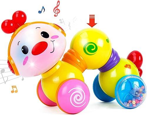 CubicFun Jouet Musical Bébé 6 Mois, Jouet d'activité Bébé Rampant avec Musique et Lumières pour Bébé 6 12 18 Mois Gar...