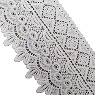 3Yds Cotton Tassle Crochet Lace Trims Applique DIY Sewing Craft 17cm White