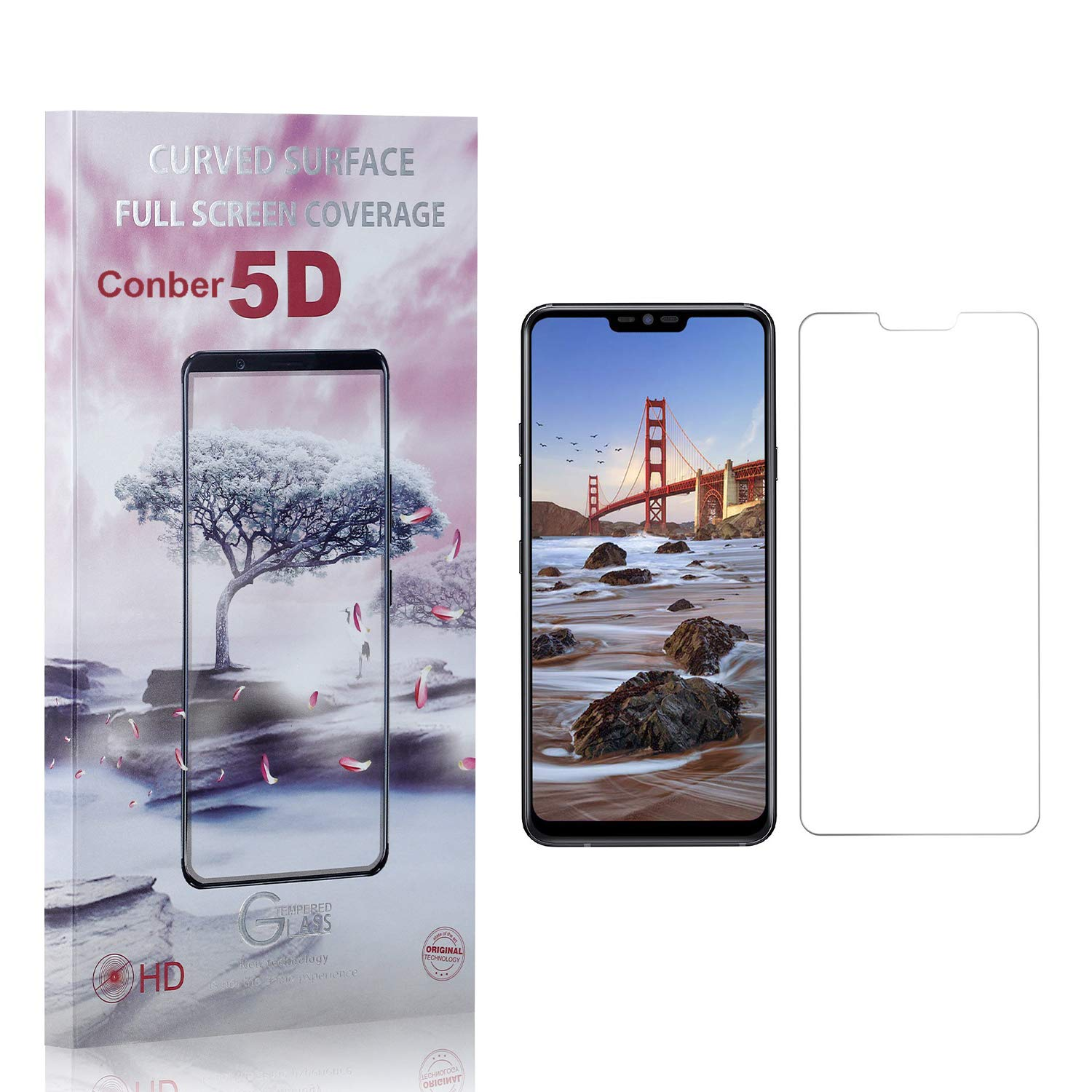 Conber Limited time cheap Sale Special Price sale 3 Pack Screen Protector for Scrat Anti-Shatter G7 LG