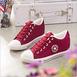 f80f46d46b0 Wedges Canvas Shoes Women Sneakers Summer Casual Shoes Female Cute White  Sneakers Stars Zapatos Mujer Trainers