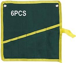1 St Multifunktionell Canvas 6/8/10/12/14/25 Roll Up Tool Bags Set, Hanging Fockets Skiftnyckel Verktyg Förvaringsväska Or...