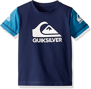 Quiksilver Children (youths) Heats On Short Sleeve Boy Medieval Blue Surfing Rashguard Size 3