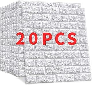 comprar comparacion 20 Pieces Papel Pintado Imitación Ladrillo Win-Y Diseño 3D Fondo de Pantalla de PVC Decoración de Ladrillo Sala de Oficina...