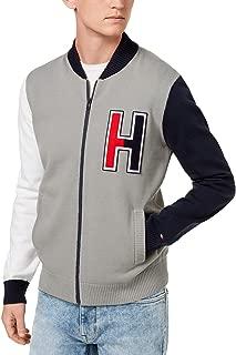 Mens Full Zip Varsity Baseball Sweater