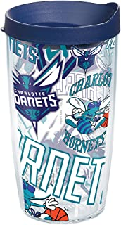 Tervis NBA Charlotte Hornets All Over Tumbler with Wrap and Navy Lid 16oz, Clear