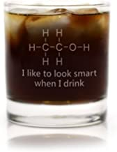 Funny Chemistry of Alcohol Engraved Glass (Cocktail Rocks)