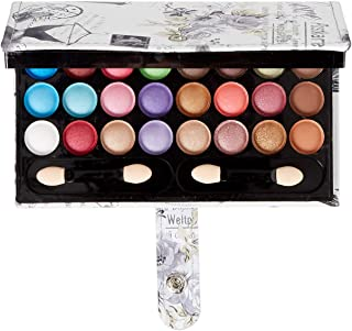 Makeup Palette 33 Bright Colours Matter and Shimmer Eyeshadow Blush Brushes Makeup Eyeshadow Pallet Highly Pigmented Cosmetic Palette for Girls Christmas Birthday Gift Makeup Kit Eyeshadow Palette