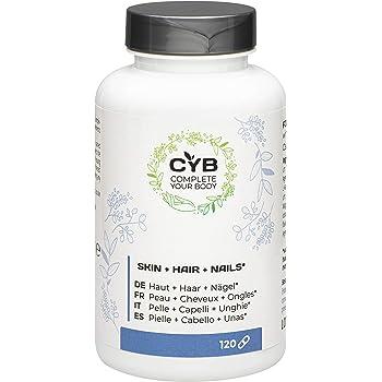 CYB Pelle + Capelli + Unghie, 120 capsulas, VEGAN