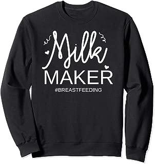 Funny Milk Maker Breastfeeding Sweater Mom Motherhood Tee