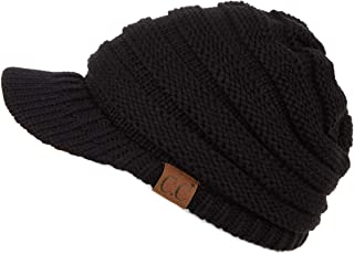 knit hat with brim women's