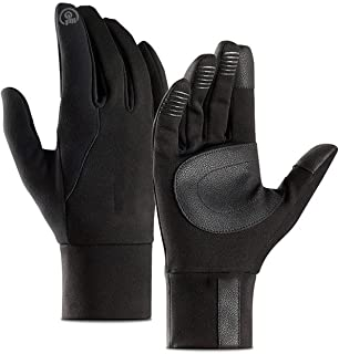 Deaing Mens Unisex Leather Gloves Touch Screen Thinsulate Lined Driving Warm Gloves Winter Keep Warm Mittens Male