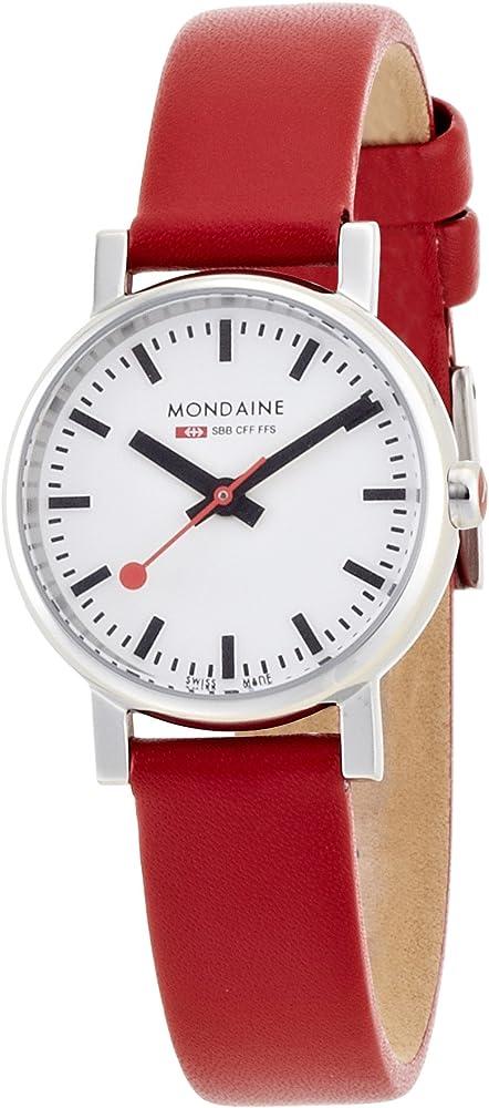 Mondaine evo orologio da polso, display analogico, donna A658.30301.11SBC