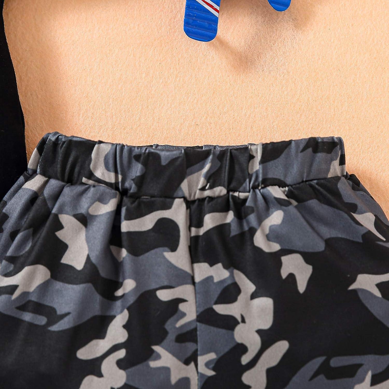 2 Piece Summer Outfit Toddler Baby Boy Letter Short Sleeve T-Shirt Tops Shorts Set Little Boy Clothes Set Kids