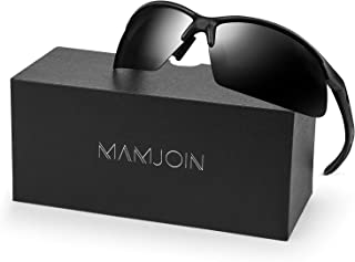 MAMJOIN Polarized Sports Sunglasses for Men Women UV400 Protection Sunglasses for Cycling Driving Fishing Golf Baseball Running Hiking Outdoor Sports, Safety HD Glasses, TR90 Frame