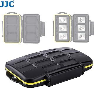 JJC MC-XQD6 Ruggard XQD Card Case, Shockproof XQD Case, Water-Resistant XQD Case Case, Rubber Sealed Ergonomic Locking Easy Carrying Memory Card Case fits 6 x XQD Cards (Renewed)