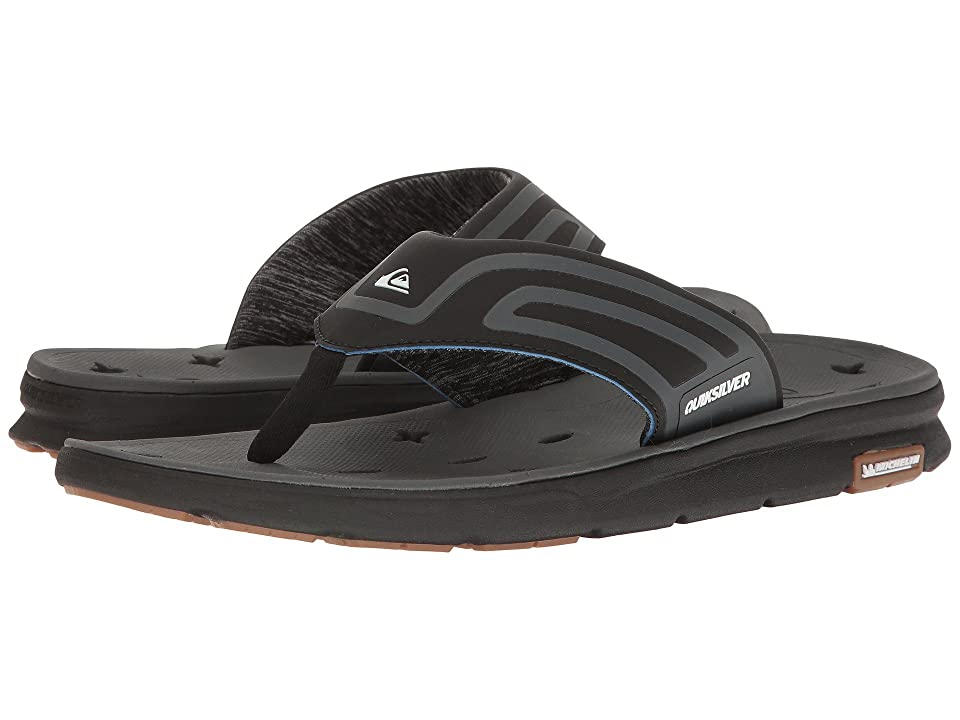 Quiksilver Amphibian Plus Sandal (Black/Black/Grey) Men