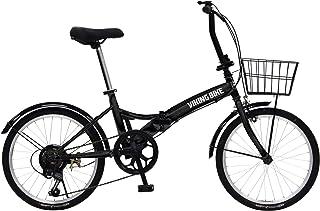 VIKINGBIKE(バイキングバイク) TUGH(タフ) パンクしない折りたたみ自転車 ノーパンクタイヤを採用 20インチ 6段変速 バスケット/泥除け装備 81205
