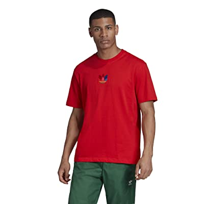 adidas Originals 3D Trefoil Tee (Active Red) Men