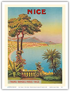 Nice, France - Cote d'Azur - French Riveria - Vintage World Travel Poster by Morel De Tangry c.1900 - Master Art Print - 9in x 12in
