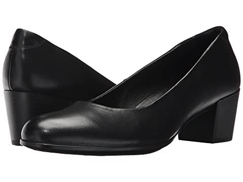 LeatherCashmere Black LeatherMink 35 M Calf Leather ECCO Pump Calf Shape Calf PYUIx