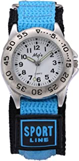 Jewtme Kids Children Nylon Strap Watches Outdoor Sports Analog Display Waterproof Watch for Girls Boys