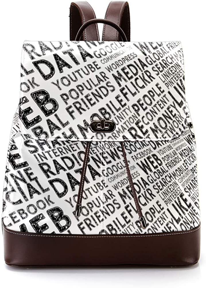 Texture PU Leather Backpack Fashion Shoulder Bag Rucksack Travel Bag for Women Girls