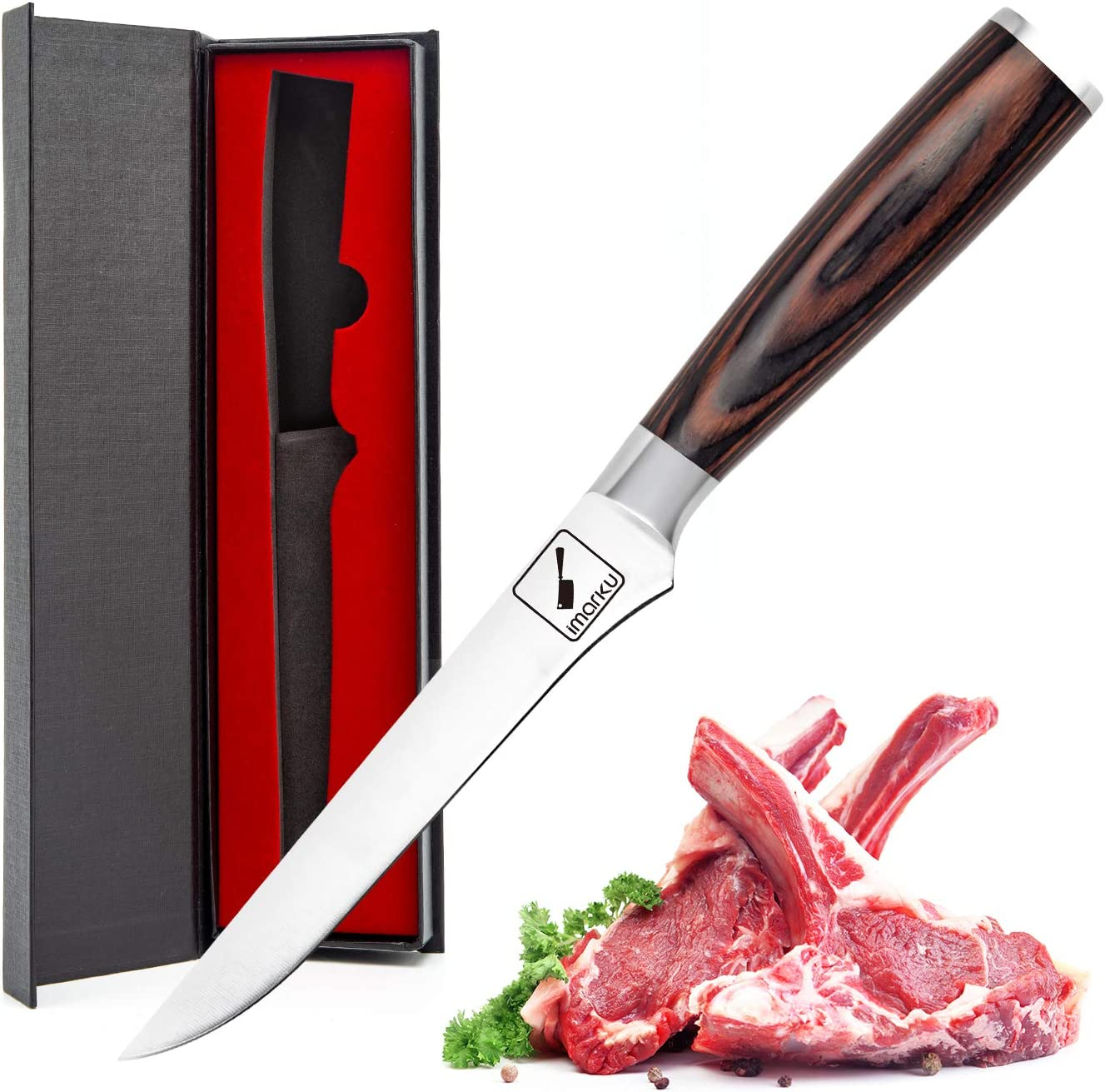 Long Beach Mall imarku Boning Knife 6-Inch Fillet High Sharp with C Razor Sales results No. 1