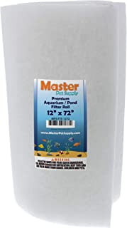 """Master Pet Supply Premium Aquarium Filter Pad Roll, Cut to Fit 12"""" by 72"""", Micron Fiber Filtration Media for Freshwater, S..."""