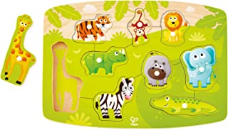 Hape E1405 Jungle Animal Wooden Peg Puzzle - Educational Toy