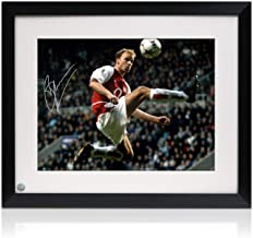 Dennis Bergkamp Signed Arsenal Photo: The Statue. Framed