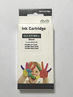 ink 451 bk comptable with printer canon ip7240-ix6840-mg5640