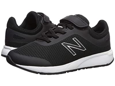 New Balance Kids 455v2 (Little Kid/Big Kid) (Black/White) Boys Shoes
