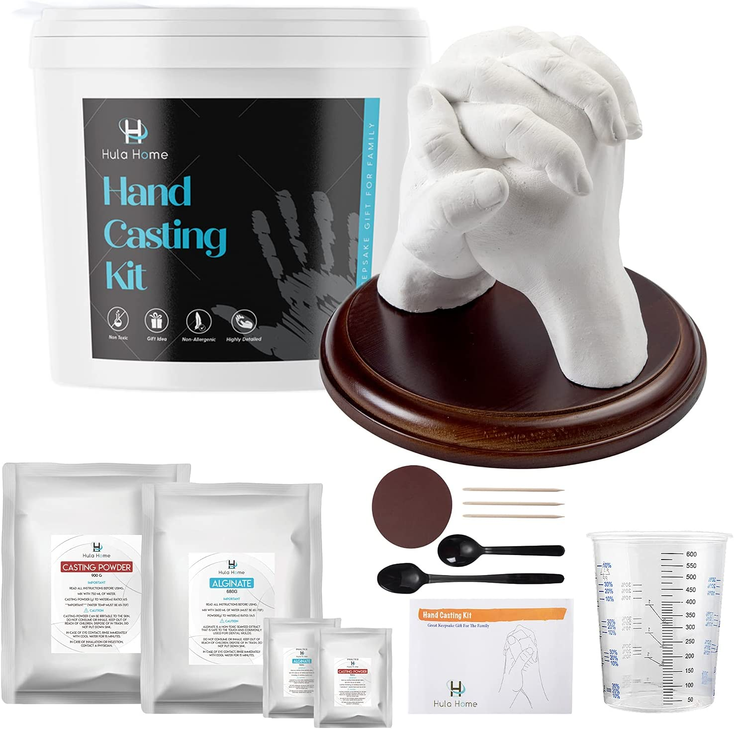 New color DIY Hand Casting Kit for Houston Mall Couples Includes Adult and Wo Family