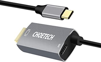 USB C to HDMI Cable, CHOETECH Type-C to HDMI Adapter 6FT 60W PD Powering Cable Thunderbolt 3(4K@60Hz) Compatible with Macbook Pro2020/iPad Pro/MacBook Air,iMac 2017,Samsung Galaxy S10/S9/S9+/Note9/S8