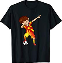 Dabbing Soccer Boy Macedonia Shirt Macedonian