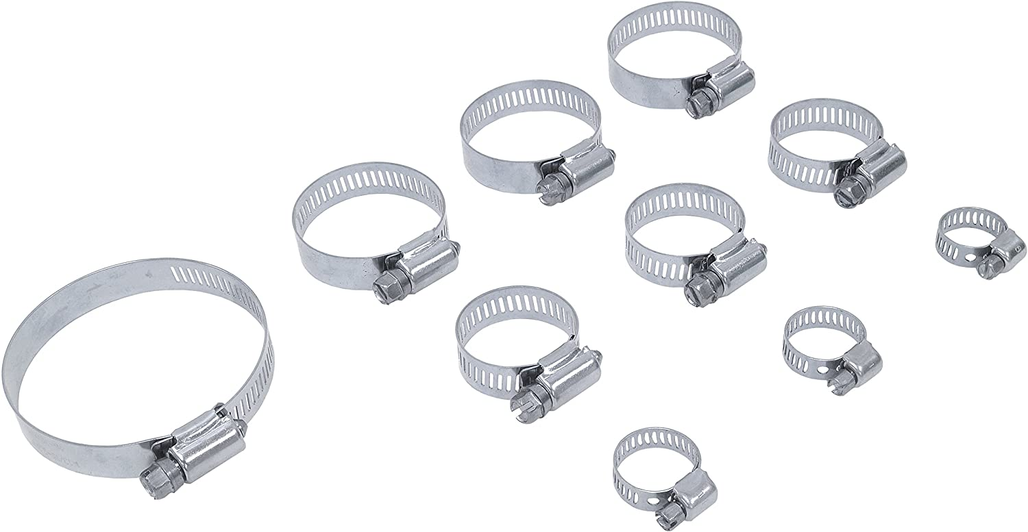 Pro Tie New products, world's highest quality popular! 33722 Assortment All Stainless Pack wit Denver Mall Hose Steel Clamp