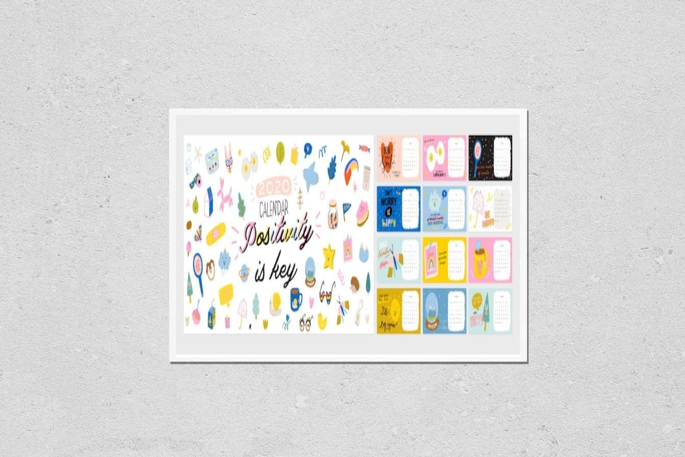 Poster Reproduction Cheap SALE Start of Happy Birthday Yearly wall calendar. Max 86% OFF 2020