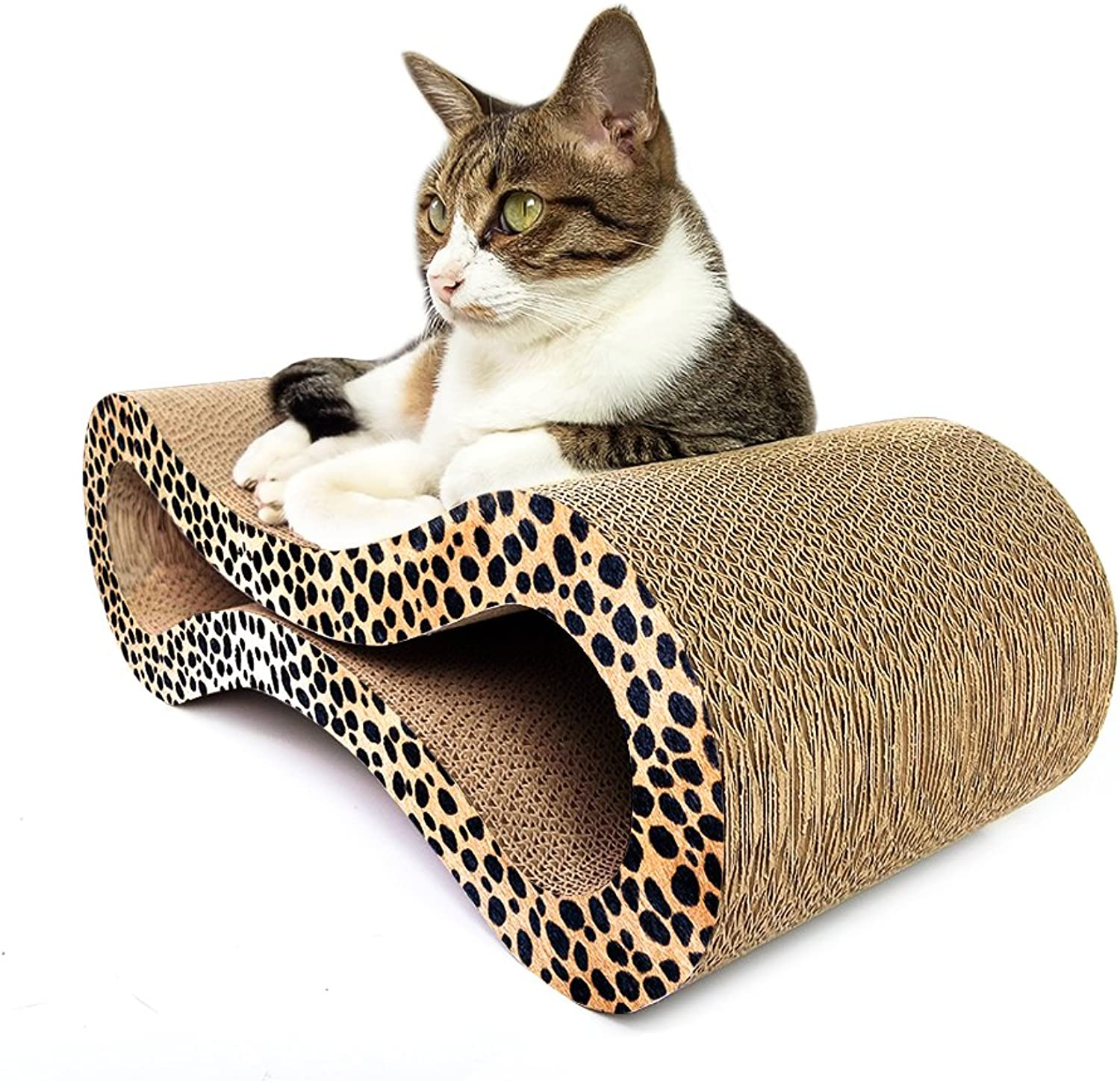 Animals Favorite Deluxe Cat Scratcher Corrugated (8Shape Cheetah)