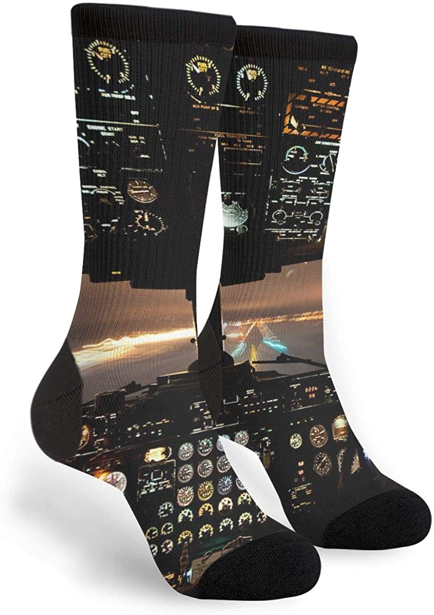 Airplans Pilot And Physics Men's Unisex Funny We OFFer at cheap prices Cheap mail order shopping Novelty Socks Crew